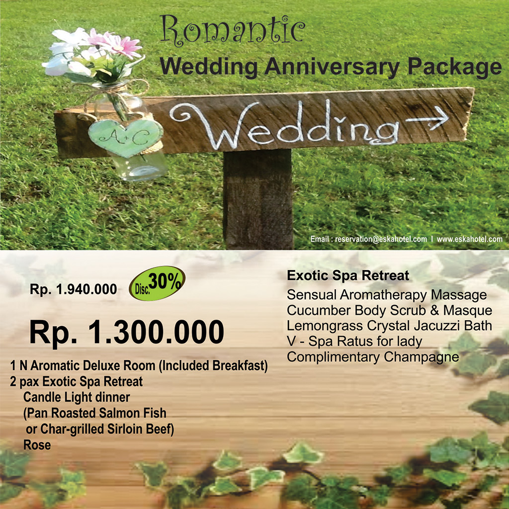 romantic wedding anniversary package eska group With wedding anniversary vacation packages