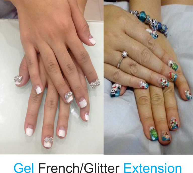 eska group clinic C6314-GelFrenchorGlitterExtension